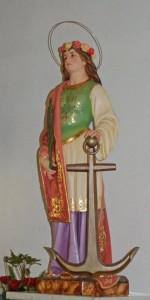 Santa Barbara in S.B. church in Cedros, Faial, Azores