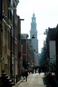 1e Egelantiersdwarsstraat and Westertoren