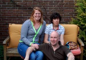 Titia, Ernie and Zoe.