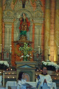 Santa Barbara the seafarers' saint.