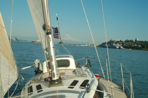 Just before the smoke routine. My soup pan on the aft port, dinner.
