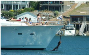 Look what this Seattle Yacht Club cat dragged in into Gig Harbor!