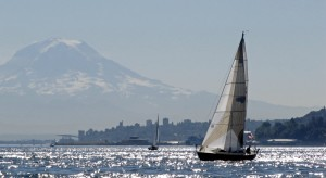 "taken by Sheila Schultz on the Jack & Jill race Sept 13. ""Fleetwood"" and Mt.Rainier"