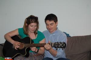 Corrine and Euan playing quatres mains.