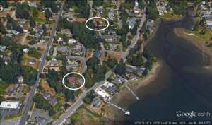 circled top my home from 1993-1997. bottom my current hideout.