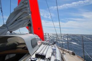 The new Ballard Sails storm jib