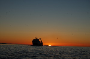 sunset Sunday in the Strait of San Juan de Fuca
