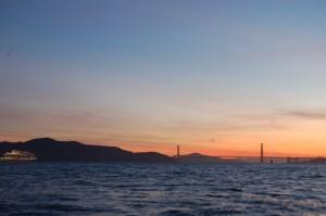 "The ""Nieuw Amsterdam"" entering the Golden Gate"