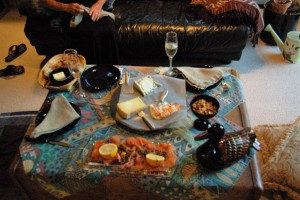 Real French Champagne, Salmon Gravlax, Appenzeller, etc. I'm in Heaven!