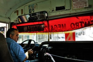 Back in the rickety old local city bus in San Juan del Cabo