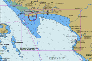 track into the YC at Puntarenas