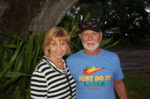 Linda and Ron the rolling Flint stones and Moss in the Live Oak tree