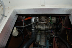the oil cooler
